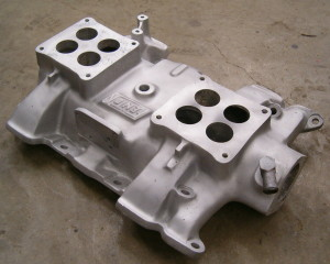Image result for Y-block dual 4-barrel manifold